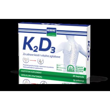 Herbiko K2D3 20 kapsula