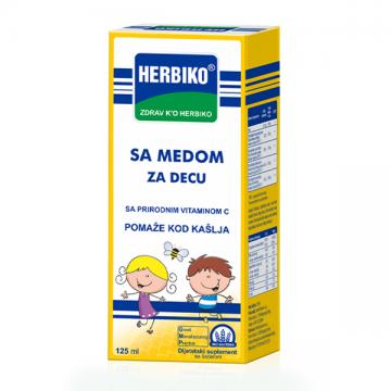 Herbiko sa medom dečiji sirup protiv kašlja 125ml