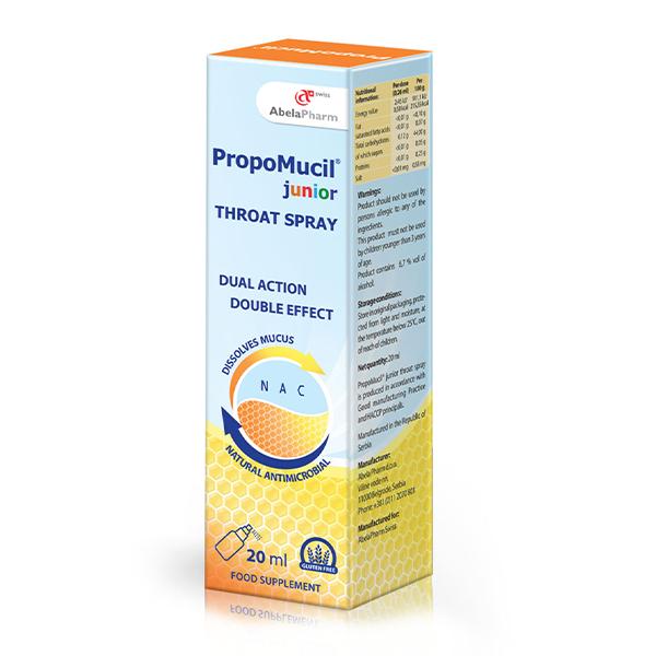 Herbiko PropoMucil sprej za grlo za decu 20ml