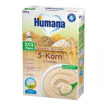 Humana bezmlečna organska kaša sa 5 žitarica 200g