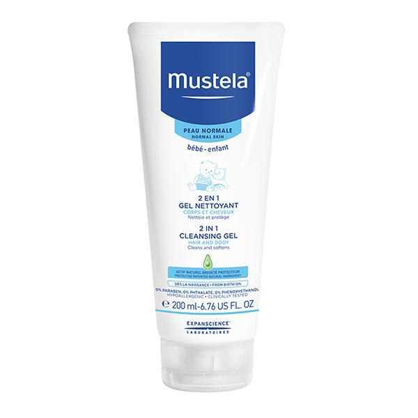 Mustela šampon za bebe 2 u 1 za kosu i telo 200ml