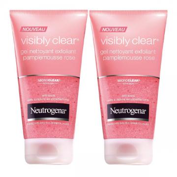 Neutrogena Visibly Clear piling za čišćenje lica 2x150ml