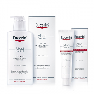 Eucerin Box (AtopiControl losion za telo 250ml + AtopiControl Acute Care krema 40ml)