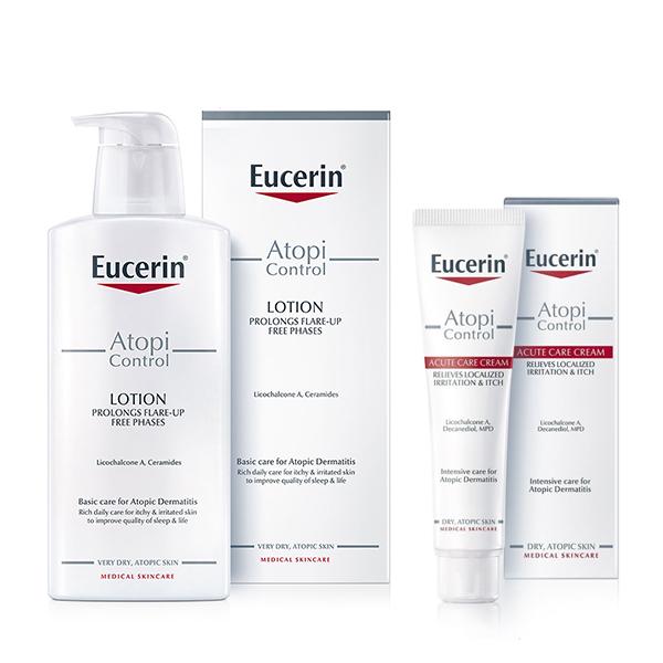 Eucerin Box (AtopiControl losion za telo 250ml + AtopiControl Acute Care krema 40ml)