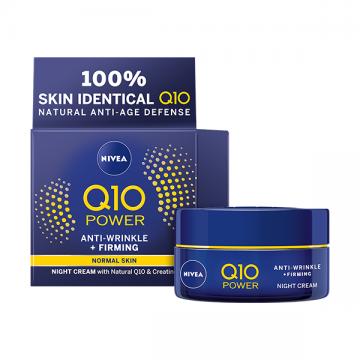 Nivea Q10 Power noćna krema protiv bora i za zatezanje kože 50ml