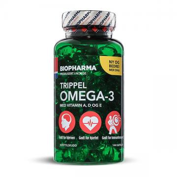 Biopharma Norveške Trippel Omega-3 kapsule (144 soft gel kapsula)