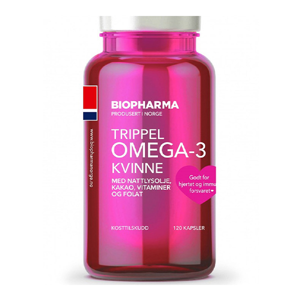 Biopharma Norveške Omega-3 kapsule za žene (120 soft gel kapsula)