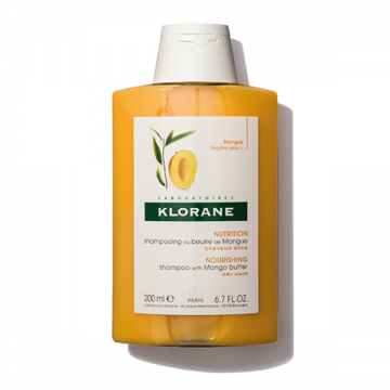 Klorane šampon za kosu sa mango puterom (suva, oštećena kosa) 200ml