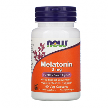 NOW Foods Melatonin 3mg 60 kapsula - 1