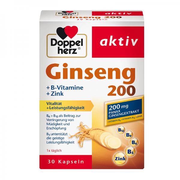 Doppelherz Aktiv Gingseng 200mg 30 tableta - 1