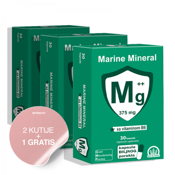 Magnezijum Marine Mineral 2 + 1 GRATIS