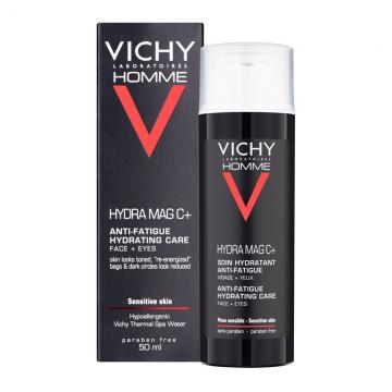 Vichy Homme Hydra Mag C+ hidrantna krema protiv znakova umora za lice i predeo oko očiju 50ml