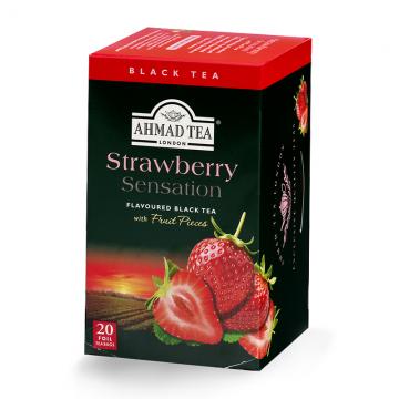 Ahmad Tea Strawberry Sensation crni čaj 40g (20 kesica)