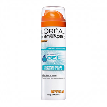 L'Oréal Men Expert Hydra Energy gel za brijanje za osetljivu kožu lica 200ml (Sensitive)
