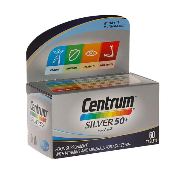 Centrum Vitamini A-Z Silver za starije od 50 godina 60 tableta