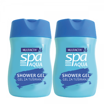 Multiactiv Spa Aqua gel za tuširanje 2x75ml