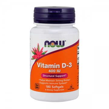 Now vitamin D3 400ij 180 kapsula - 1