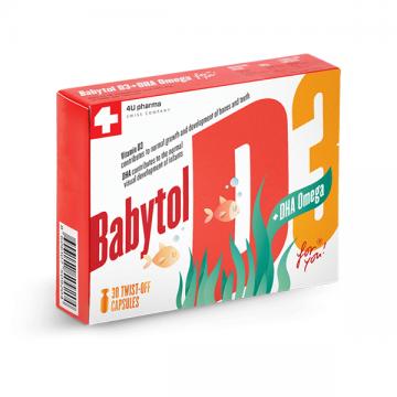 Babytol D3+Omega kapsula A30